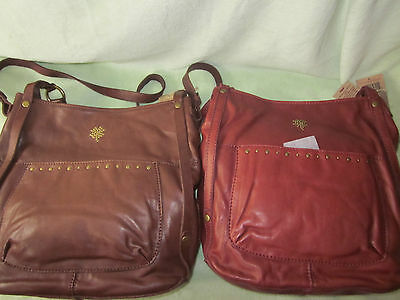 (Lucky Brand Sunset Junction Brown Lamb Leather Shoulder/Tote Bag Really Nice NWT)