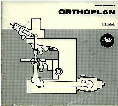 Leitz Orthoplan Microscope Instruction Manual On Cd