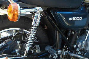 NEW Chrome Shocks Kawasaki KZ900 KZ1000 1976-80