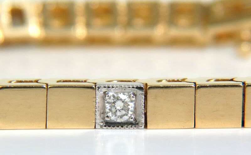 .40ct Diamond Gold Shine Pave Box Bracelet 14kt+