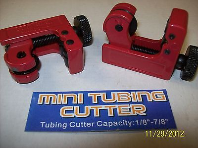 2 Pc. Mini Tubing Cutters For Cutting Pipes Copper Pvc Pex In Close Tight Areas