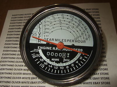 Oliver Super 55 Tractor Tachometer Hour Meter Gauge New
