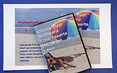 Dvd Case Inserts Wraps Glossy For Inkjet Or Laser Printers Jg8514 50 Sheets