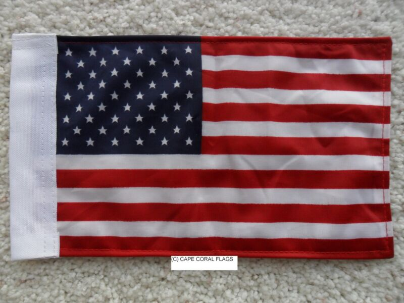 """6""""X9"""" AMERICAN / U.S.A. FLAG DOUBLE SIDED KNIT NYLON WITH SLEEVE MOTORCYCLE /CAR"""