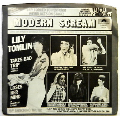 Lily Tomlin Modern Scream 7  33 Rpm Ep Comedy Spoken Word Polydor Picture Sleeve