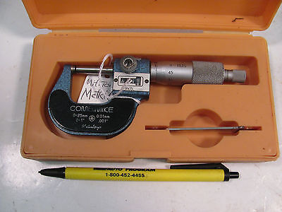 Sb262e Mituoyo Micrometer Model 159-101 0-25mm Range With .001 Digital Readout