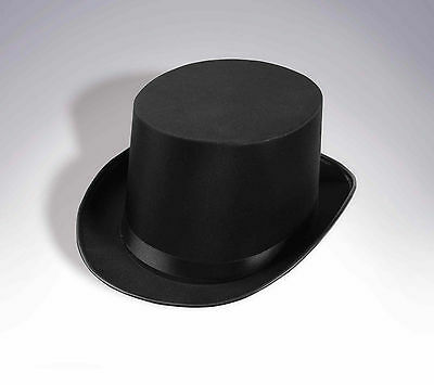Black Satin Top Hat Magician Gentleman Adult 20S Costume Tuxedo Victorian
