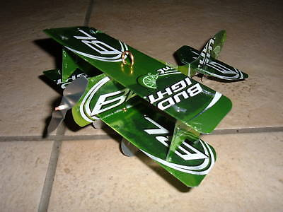 BUD LIGHT LIME Plane Airplane Made from REAL Beer cans - Bud Light Made