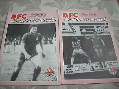 28.9.82 Bournemouth v Southend United programme