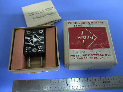 Vintage Ft-243 Quartz Radio Crystal Westline Los Angeles Frequency 3784.5 Kc New