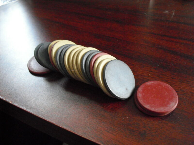 Vintage Lot of 20 Poker Chips - Maybe Bakelite