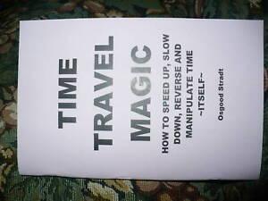 TIME TRAVEL MAGIC book - like a time machine - rare!