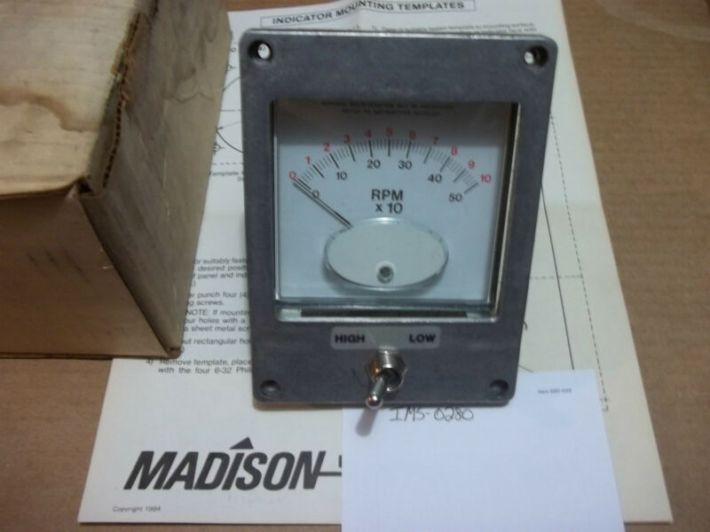 Madison Screw RPM Gauge for Cincinnati Milacron p/n 3932418 (280)