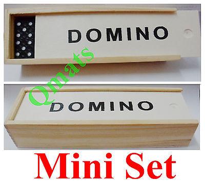 Travel Double Six Dominoes (1 Set  NEW Wooden Dominoes Double Six Set of 28 MINI TRAVEL CASE GAME WHOLESALE )