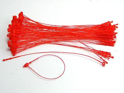 5 500 Pcs Red Snap Lock Pin Security Loop Plastic Tag Fastener Hook Ties