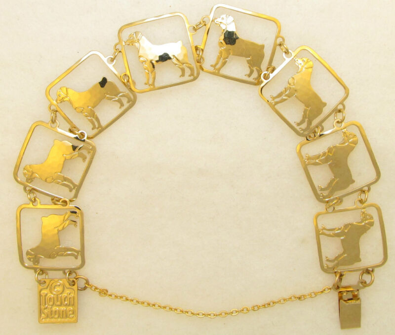 Rottweiler Jewelry Gold Bracelet  by Touchstone