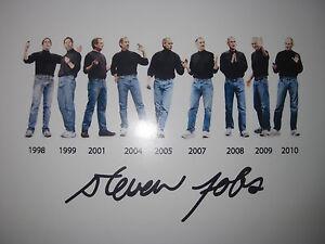 Steve Jobs Signed Photo Steven 1998 to 2010 8x10 Autograph Rare reprint Picture