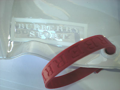 BURBERRY sport for WOMEN clear white pouch + red wristband