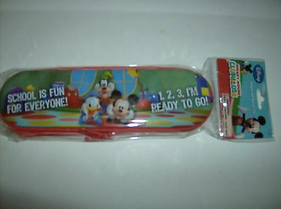 School Is Fun For Everyone Zippered Pencil Tin With Mickey Donald Duck And Goofy