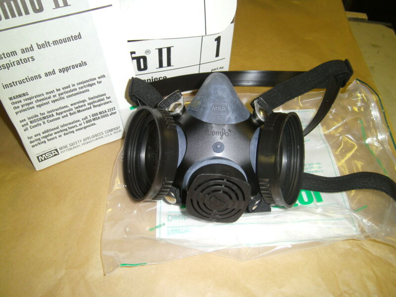COMFO II RESPIRATOR Face piece Black, Small New OS 479532 with cradle headband