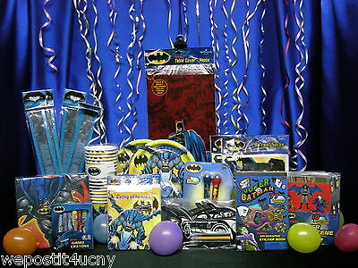 Batman Party Cups (Batman Party Set # 16 F Tablecloth Plates Napkins Cups Loot Pieces Batman)