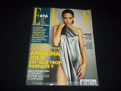 2008 JUL 19 ELLE MAGAZINE IN FRENCH - ANGELINA JOLIE - FASHION MODELS - B 874