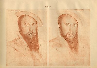 large reproduced  portraits from  the court of henry v111 . sir thomas wiatt