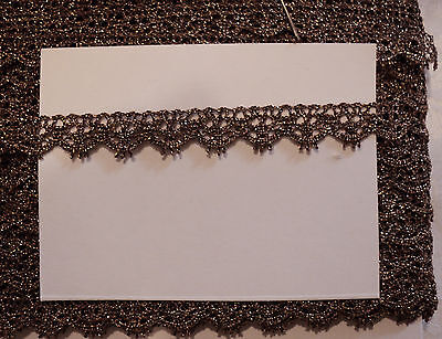 """Used, 5/16"""" OLDE GOLD METALLIC LACE - BORDER- JAPAN for sale  Shipping to India"""