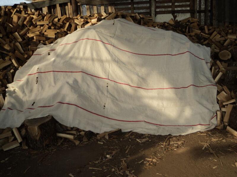 Antique Wagon Cover Hemp/Flax 1354