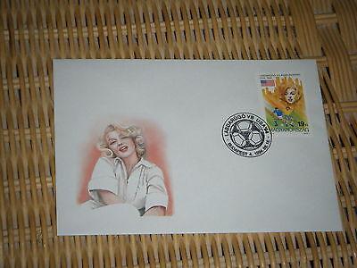 marilyn monroe  stamp on envelope
