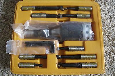 3 Boring Head R8 Shank And 12pc 34 Boring Bar Set