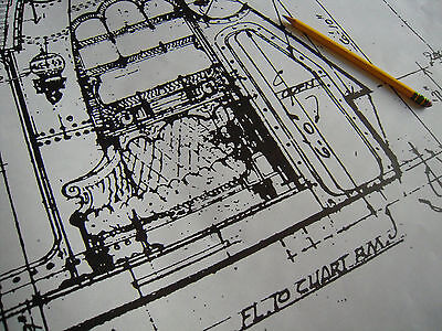 Disney 20,000 Leagues Nemo's Nautilus Sub Blueprint INT VIEW OF NEMO'S LIBRARY