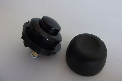 CAR  HORN PUSH BUTTON SWITCH & RUBBER WATERPROOF COVER  12  VOLT