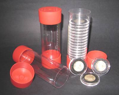 5 - Cap-Tube -Tite Airtite Coin Holders Model-A Cent Nickel Dime Quarter Silver.