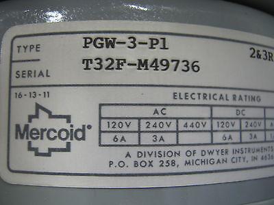 Lot Of 2 Mercoid Controls. Pgw-3-p1