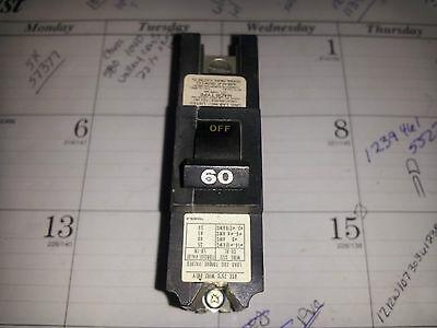FEDERAL PACIFIC NB111060 NIB SINGLE POLE 120 V 60 A BOLT IN BREAKER #B50