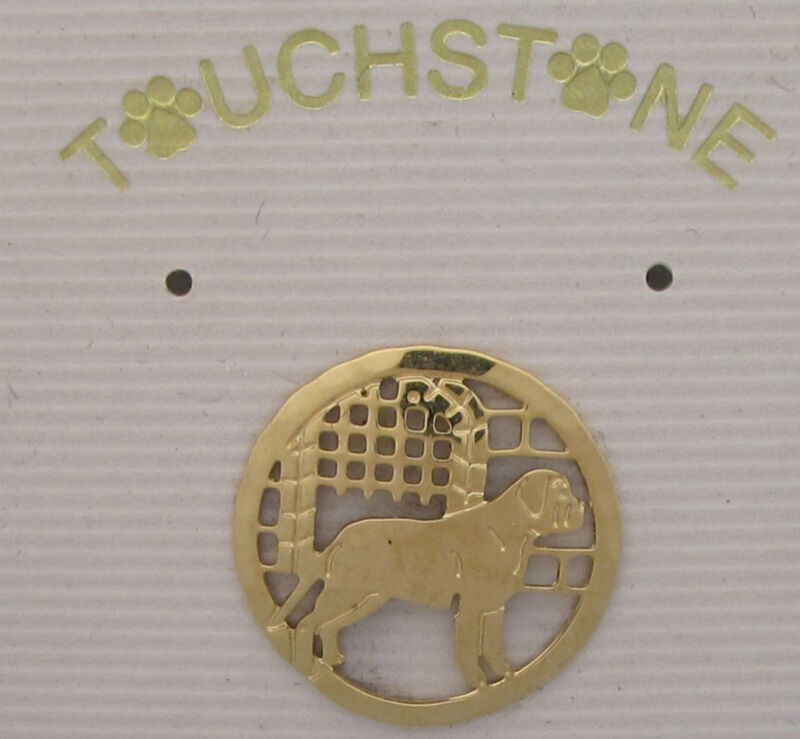 English Mastiff Jewelry Small Gold Pin