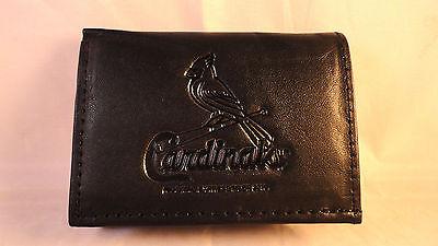- St. Louis Cardinals Black Tri-Fold Leather Wallet