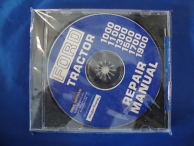 New Ford Tractor Repair Manual Cd 1000 1100 1300 1500 1700 1900