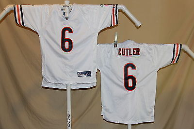 JAY CUTLER Chicago Bears  REEBOK Premier sewn #s JERSEY  Youth Large  NwT  white ()