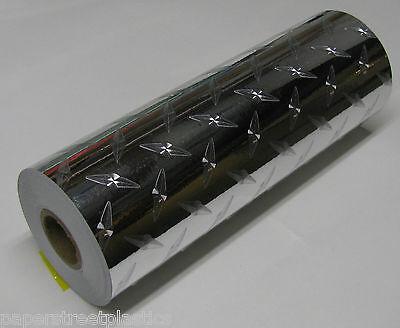 Diamond Plate Metallic Border Vinyl 8 inch x 30 Feet, Self-Adhesive Plastic
