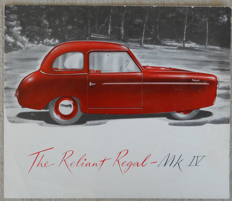 RELIANT REGAL MkIV Brochure - 1956-58  4 page