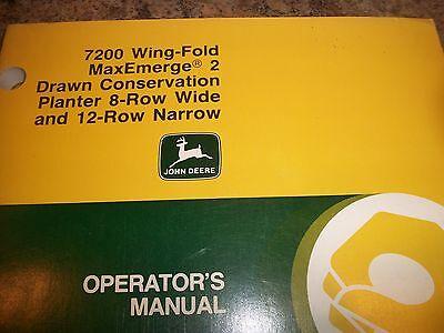 John Deere Operators Manual 7200wing-fold Maxemerge 2drawn Conservation Planter