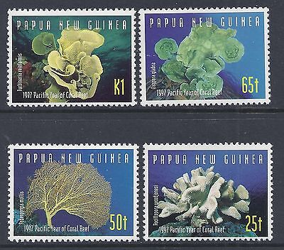 - 1997 PAPUA NEW GUINEA CORAL REEF SET OF 4 FINE MINT MUH/MNH