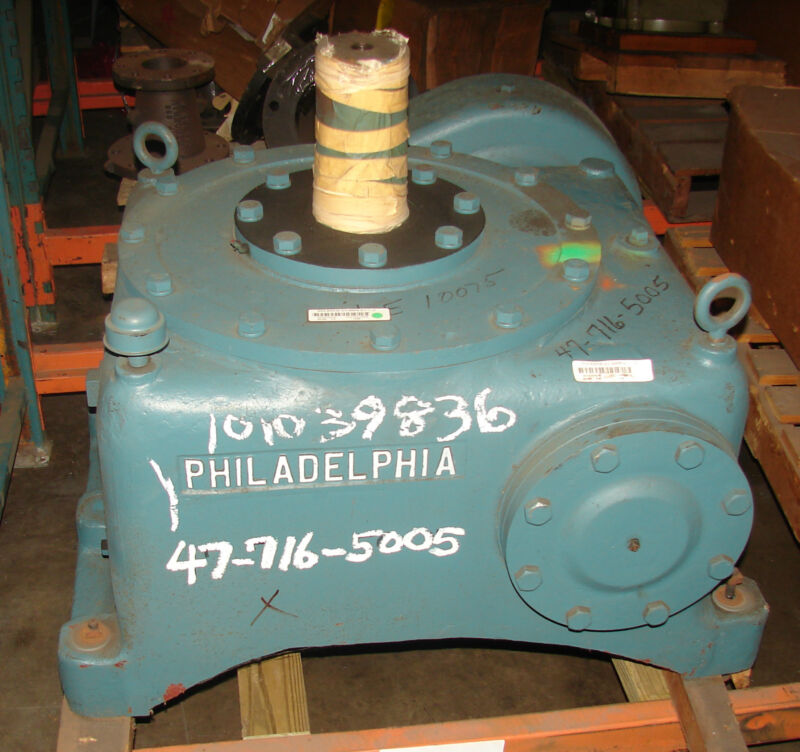 PHILADELPHIA GEAR 1075HUT GEAR REDUCER 25HP 1750RPM RATIO: 57.7 ****NEW****