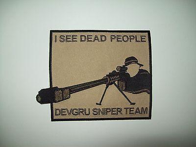 US ARMED FORCES DEVGRU SNIPER TEAM MILITARY MORALE PATCH DESERT