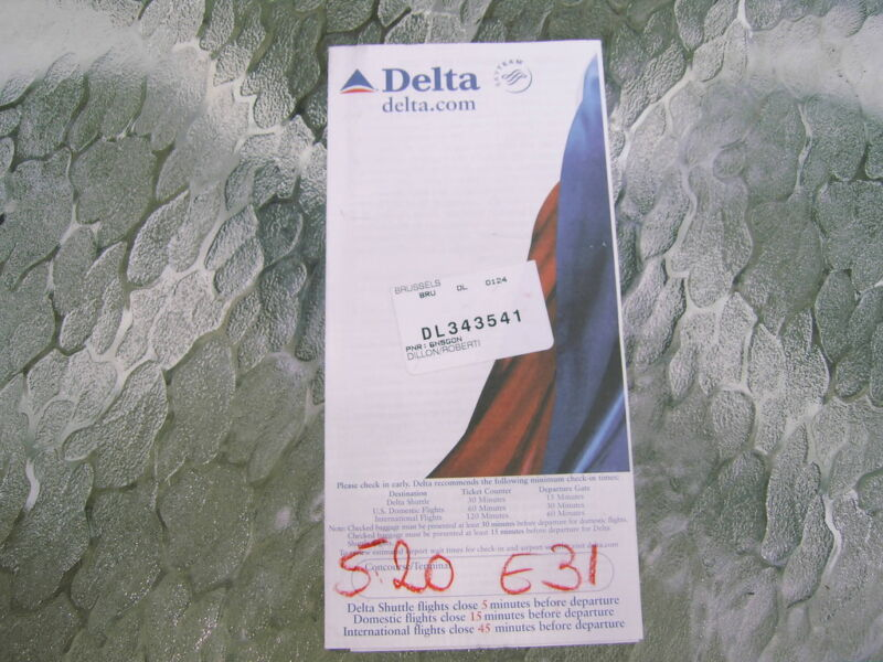 VINTAGE DELTA AIR LINES BOARDING TICKET JACKET