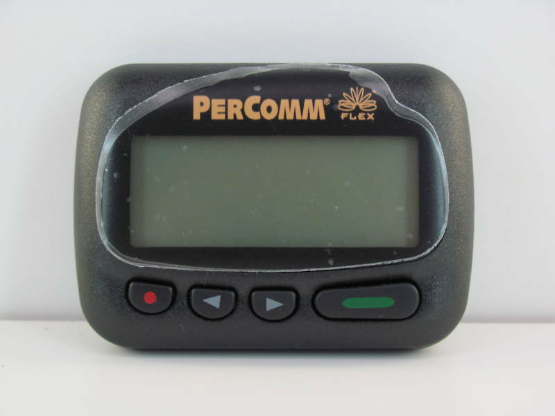 PERCOMM PA8002 ALPHANUMERIC PAGER 929.6625 MHz AS IS NO RETURN