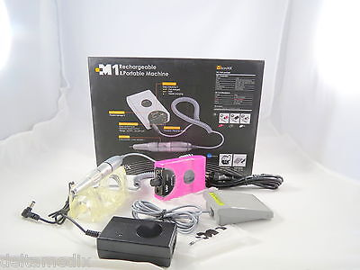 Dental Lab Micromotor Rechargeable Portable Pink 25.000 Rpm Fda Micronx