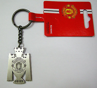 NEW Manchester United FC 18xCHAMPIONS Official Metal Keyring(keychain)(KEY807-1)